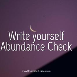 Write Yourself a Magic Check (New Moon Ritual)