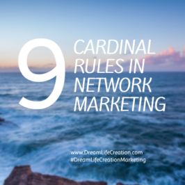 9 Cardinal Rules in Network Marketing