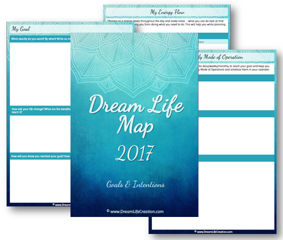 2017 Dream Life Map - goals